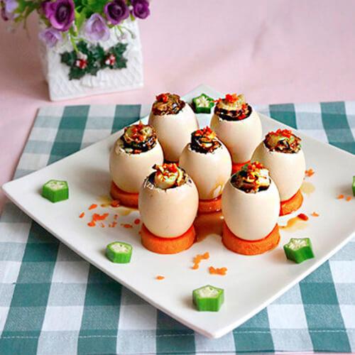 鲜贝鸡蛋盅谱