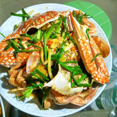 葱姜花盖蟹