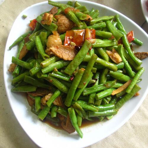 豆角炒肉(家庭版)