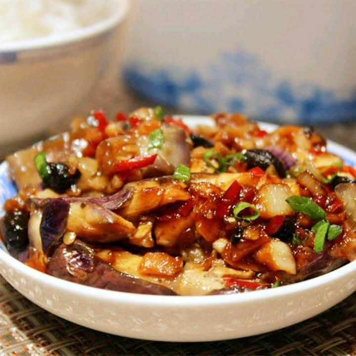 美味的鱼香豆豉茄子