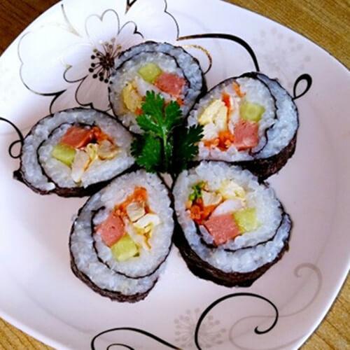 香菜大虾紫菜包饭