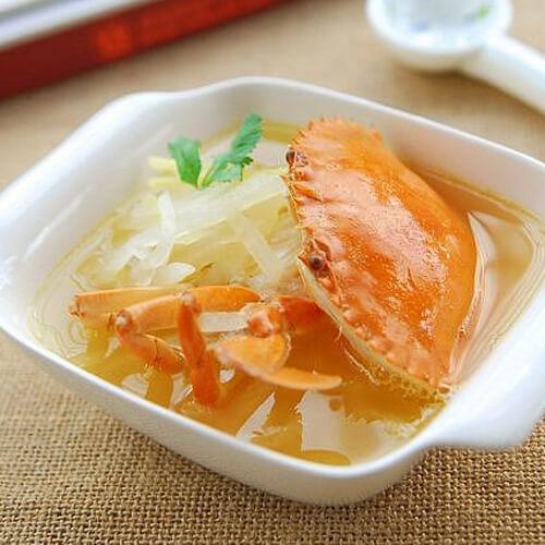 萝卜煮螃蟹