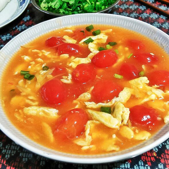 圣女果鸡蛋汤