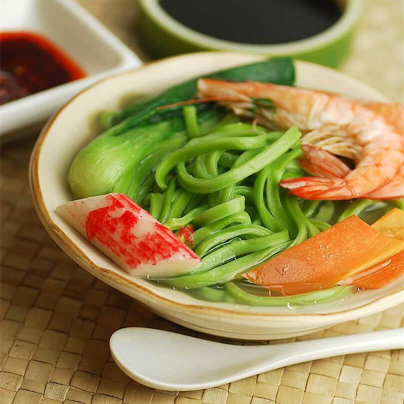 辣炒鲜虾鱼板面