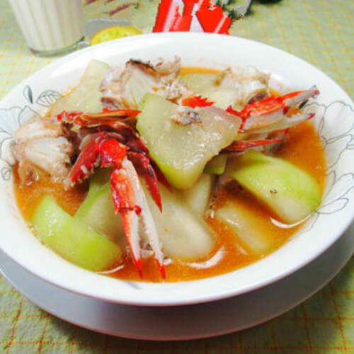 螃蟹煮蒲瓜