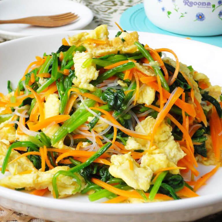 韭菜鸡蛋炒粉丝