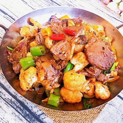干锅花菜黄牛肉