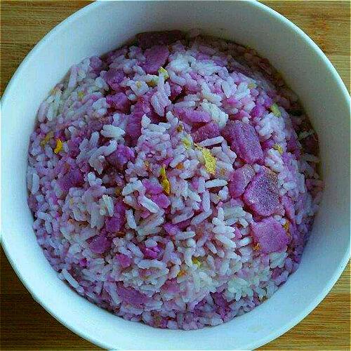 鸡蛋炒紫薯饭