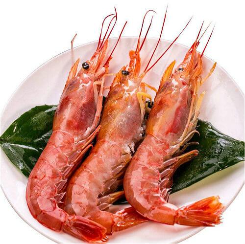 美味的香煎阿根廷红虾