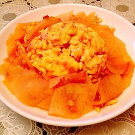 西红柿鸡蛋炒冬瓜