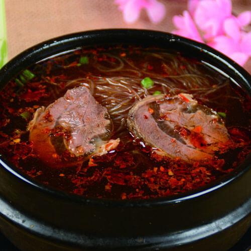 劲道的牛肉粉丝汤