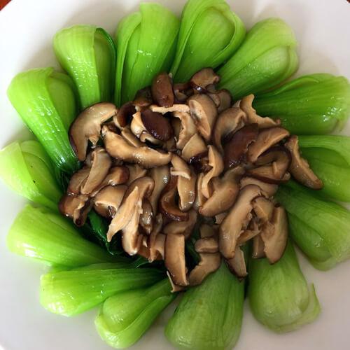 蒜蓉油菜海鲜菇