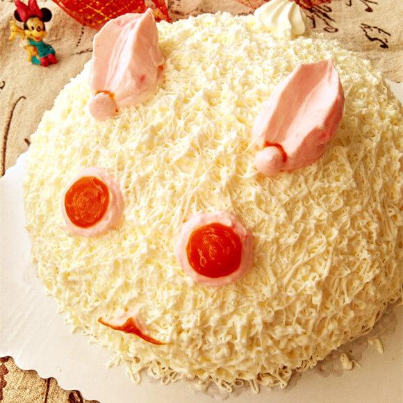 裱花蛋糕:雪兔