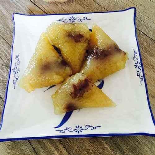 西米枣泥水晶粽