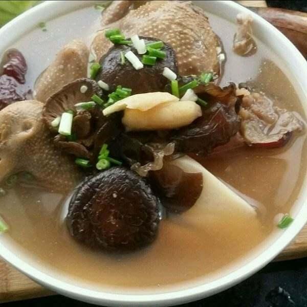 滋补的香菇木耳鸽子汤