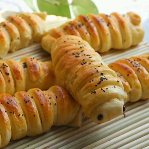 【美味可口】毛毛虫面包