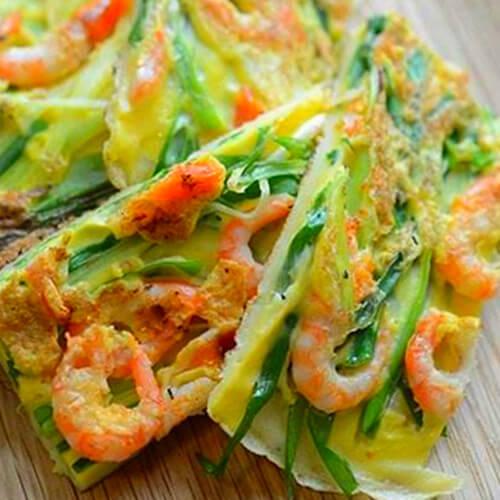 美味韩式海鲜葱饼