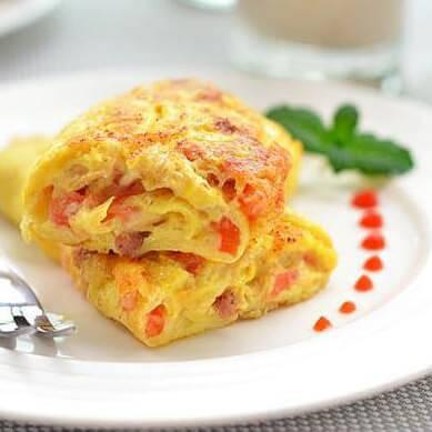 番茄奶酪蛋饼