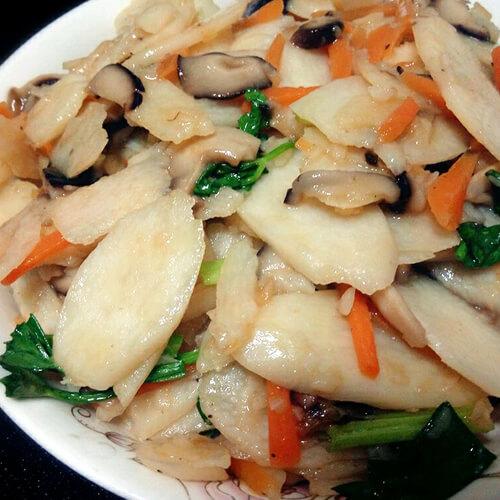 香菇咸肉炒山药