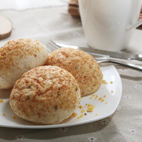 自制小麦胚芽奶香包