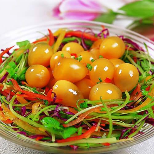 芽菜煎鹌鹑蛋