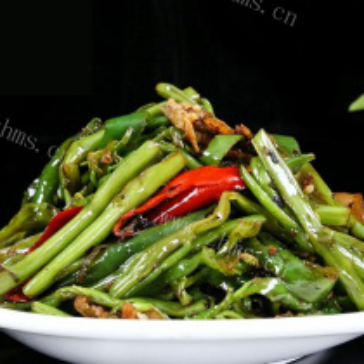 青椒烩空心菜