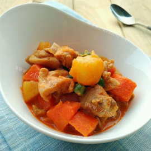 泰式土豆咖喱鸡