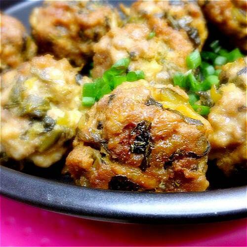 炸梅菜干猪肉丸