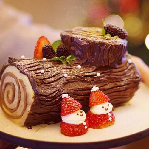 圣诞树桩蛋糕卷