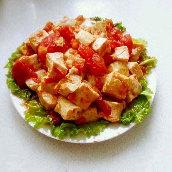 番茄猪肉炒豆腐