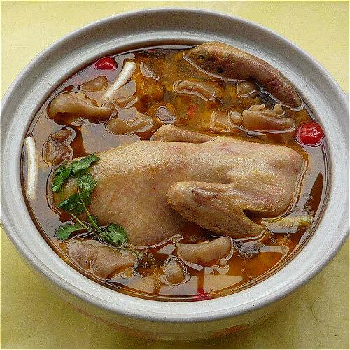 好吃的药材炖老鸭汤