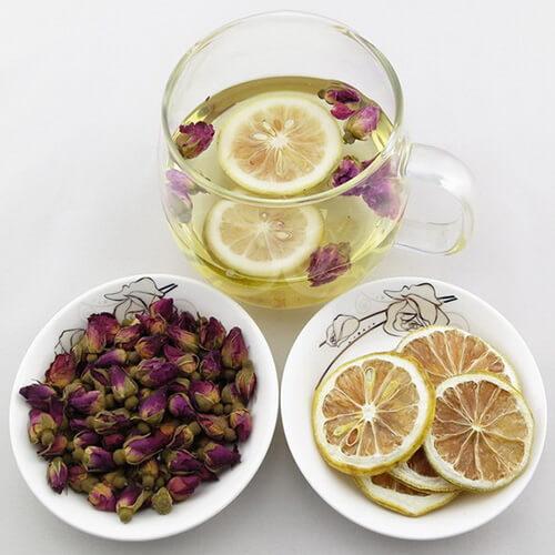 美味的玫瑰柠檬茶