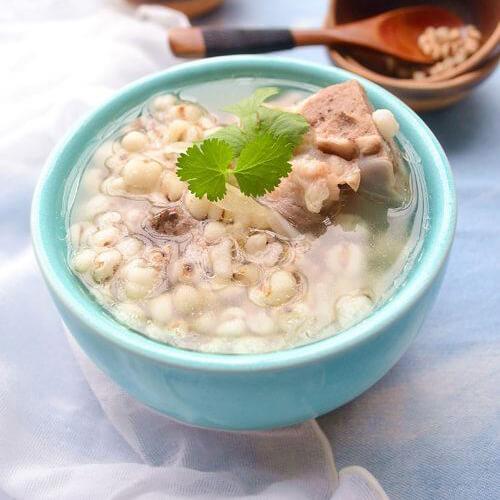 猴头菇鸡腿薏米汤
