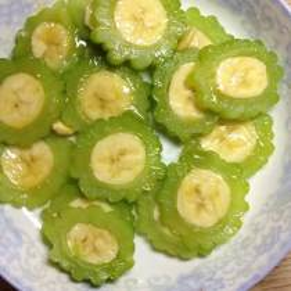 蜜汁苦瓜酿香蕉