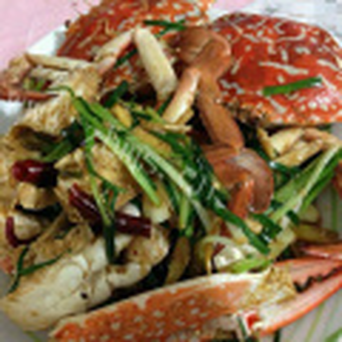 姜葱炒花蟹