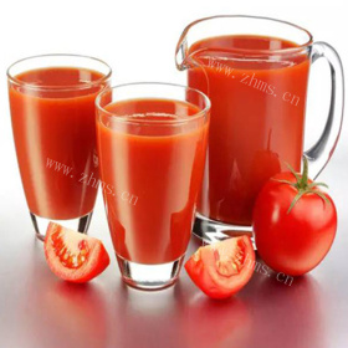 鲜榨蜂蜜苹果番茄汁
