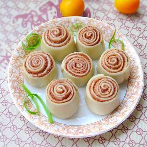 玫瑰豆沙卷