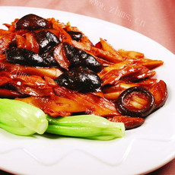 简单的辣味茄子烧腐竹