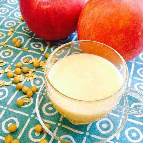 甜甜的苹果熟豆豆浆