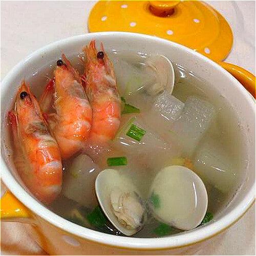 美味冬瓜蛤蜊肉汤