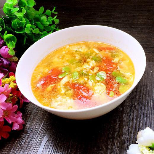 西红柿黄瓜蛋汤