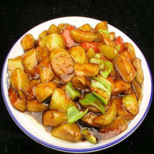 健康美食-炒茄子
