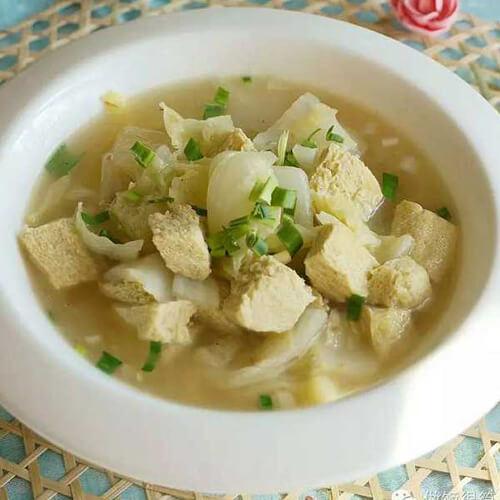 蚝油白菜烧豆泡