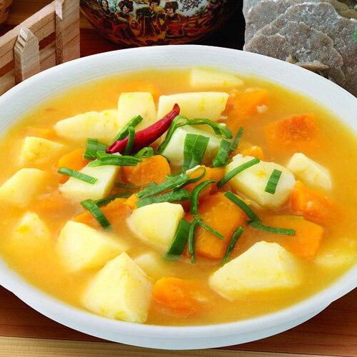 南瓜炖土豆-简单版