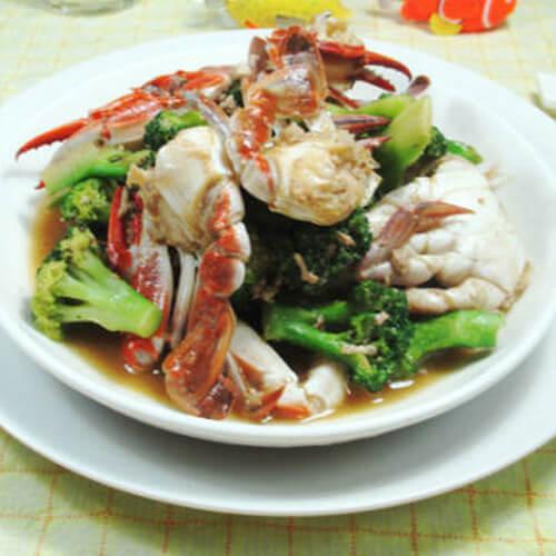 西兰花炒螃蟹
