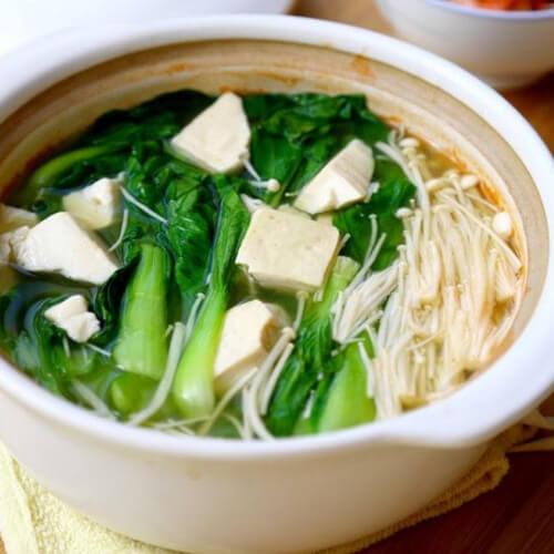 简洁版金针菇汤