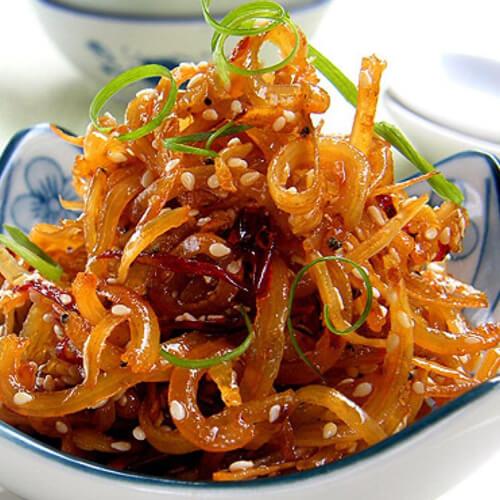 青椒丝炒银鱼