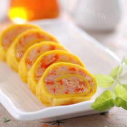 虾仁猪肉蛋卷