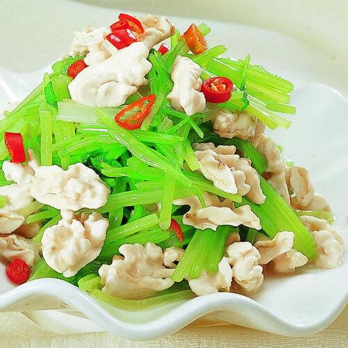 芹菜豆角炒肉