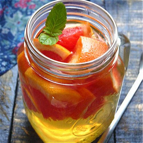 好喝的蜜炼胡柚茶